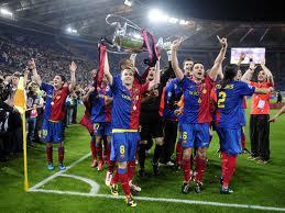 The winning team of Barcelona